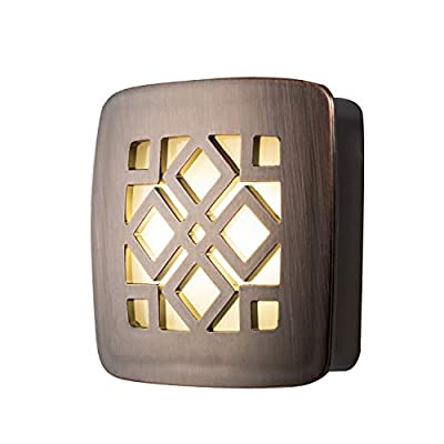 GE, Brushed Nickel Louver, Decorative LED Night Light, Plug-in, Dusk to Dawn, UL-Listed, Ideal for Bedroom, Nursery, Bathroom, Kitchen, Hallway, 10212