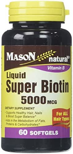 Mason Vitamins Biotin 5000 mcg Softgels, 60 Count