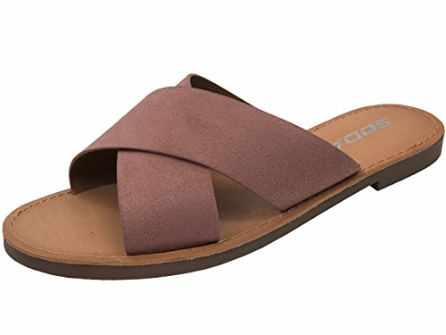 Mauve Women's Slip Basic Soda Casual Sandals on Ytdqgqw