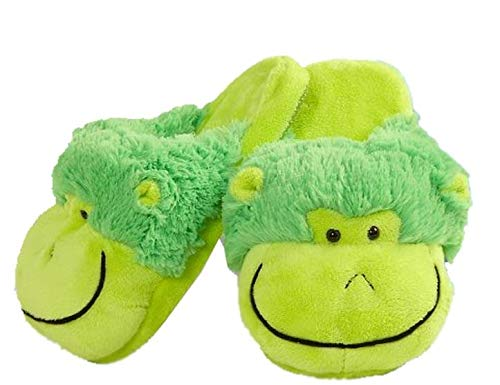 My Pillow PetsネオンMonkeyスリッパ B007RFJ7DM  Medium Child Size 1-3