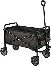 AmazonBasics - Carreta plegable para jardín y aire libre con bolsa de cubierta, negro