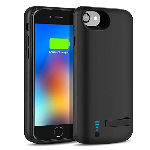 Battery Case for iPhone 6S/6/7/8 6000mAh-Bleliftus Slim Rechargeable Portable Battery Pack Charging Case for iPhone 6S/6(4.7 inch) Extended Power Bank Protective Charger Case (Black)