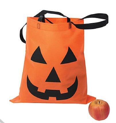 Large Jack-O'-Lantern Tote Bags ~ 16.5