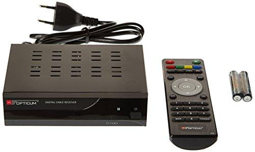 Opticum SD C100 - SD Kabelreceiver (DVB-C, EPG, SCART, S/PDIF) schwarz
