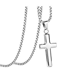 Jewelry Mens Womens Stainless Steel Cross Necklace Pendant 22 24 Inch Chain
