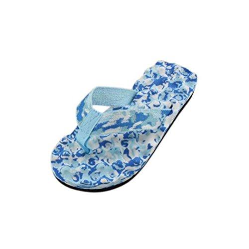 Damen LHWY Flops Indoor Flip Sandalen Camo Slipper Zehentrenner Hausschuhe Fashion Outdoor Schuhe Blau Frauen Freizeitschuhe Sommer Flache rr5q0w