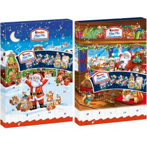 2 x Kinder Mini Mix Adventskalender 2 Motive (2x152g) 2018