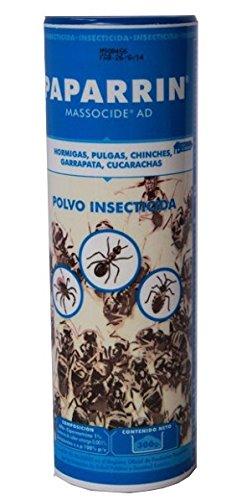 Polvo insecticida contra hormigas, pulgas, chinches, garrapatas y cucarachas. 300 gr: Amazon.es: Hogar