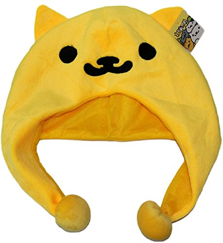 Super Cute Cat Costume (SPJ: Neko Atsume Kitty Collector Japanese Game Cute Cat Warm Plush Hat Fred (Chatora-san) Style Fluffy Cap)