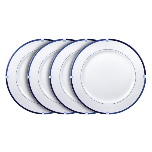Mikasa Jet Set Blue Dinner Plate (11-1/4-Inch, Set of 4)