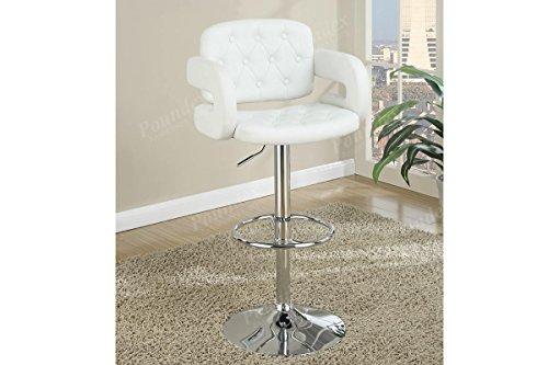1 X Brand New White Seat and Back Cushion Round Base Bar Sto