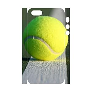 Custom Cover Case with Hard Shell Protection for Iphone 5,5S 3D case with Tennis Ball lxa#259972