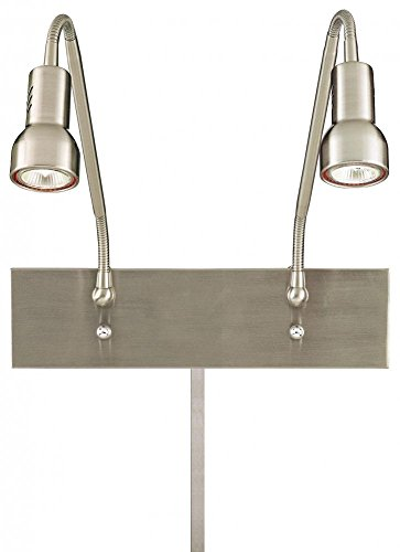 George Kovacs P4400-084 Save Your Marriage Swing Arm Wall Sconce with MR16 Halogen Bulb, Nickel ()