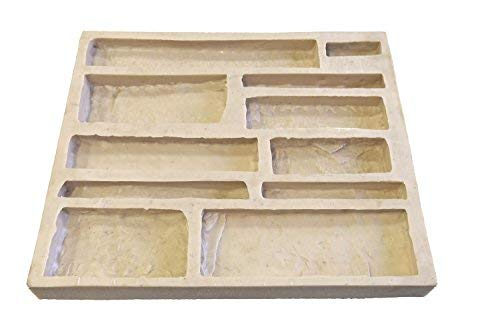 Veneer Stone Rubber Mold for Concrete, EZ Stack Flats, Recycled Material