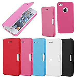 QJM Frosted Design Magnetic Buckle Full Body Case for iPhone 6 (Assorted color) , White
