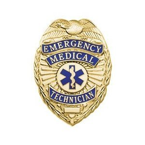 Emergency Medical Technician Badge-EMT Gold with Full Color Seal]()