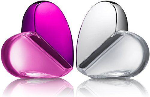 Eau De Fragrance Perfume Sets for Girls – Perfect Body Mist Gift Set for Teens and Kids – Hearts (Silver/Pink) – 2 Pack