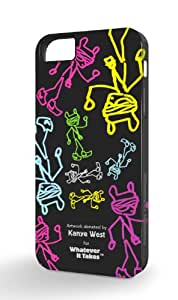 Whatever It Takes WUS-IP5-GKW02 Premium Gel Shell for iPhone 5 - Retail Packaging - Kanye West Black