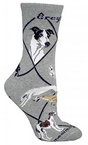 greyhound-gray-cotton-dog-novelty-socks-for-adults-9-11