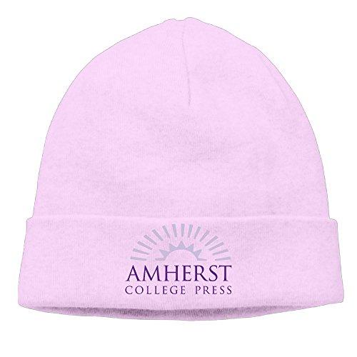ElishaJ Unisex Amherst College Beanie Cap Hat Ski Hat Cap Snowboard Hat Pink