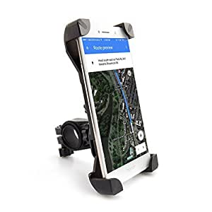 Upgraded Bike Phone Mount, Universal Bicycle/Motorcycle Mount Phone Holder 360° Rotatable for iPhone 7/7+/6/6+/6S/6S+/5S/5C, Samsung Galaxy S3/S4/S5/S6/S7/S8 Note 3/4/5,Nexus,HTC,LG & GPS Devices
