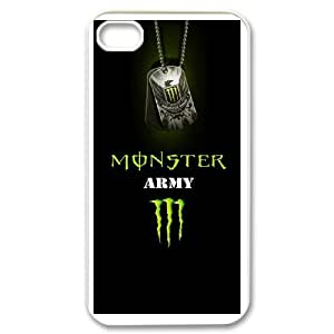iPhone 4,4S Custom Cell Phone Case Monster Energy Case Cover UWFF34123