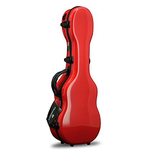 Crossrock CRF1000BURD Fiberglass Baritone Ukulele Hard-Shell Case, 15mm padding, 5 latches, Backpack Style in Red