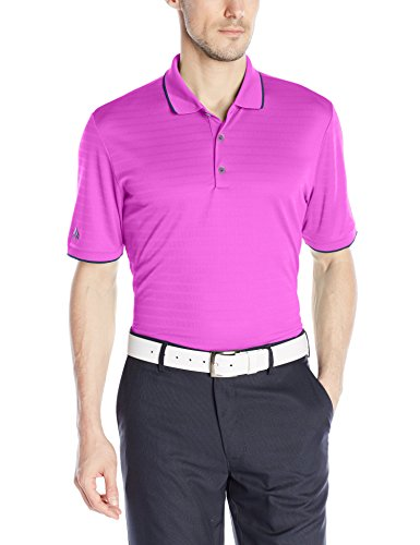 adidas Golf Men's Climacool Tipped Club Polo Shirt, Flash Pink S, Small