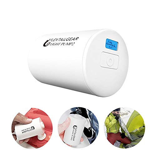 Greencolorful Electric Air Pump,Portable Outdoor Ultra-Light Inflatable Air Pump,USB Charging Suitable for a Variety of Outdoor Air Cushions with Storage Bag by Greencolorful