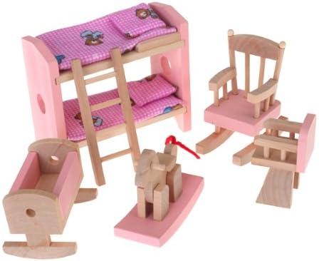 Estilo Vintage Cajas De Juguetes Casa De Muñecas Set 7