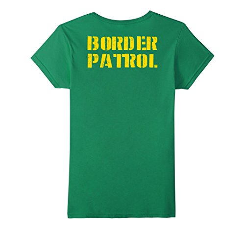 Simple For Costumes College Students (Womens Border Patrol Shirt Lazy Halloween Costume (Design On Back) Medium Kelly)