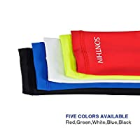 SONTHIN Arm Sleeves UV Protection Arm Cooling Sleeves for Men Women Youth Baseball Activities (5 Colors Available,1 Pair)