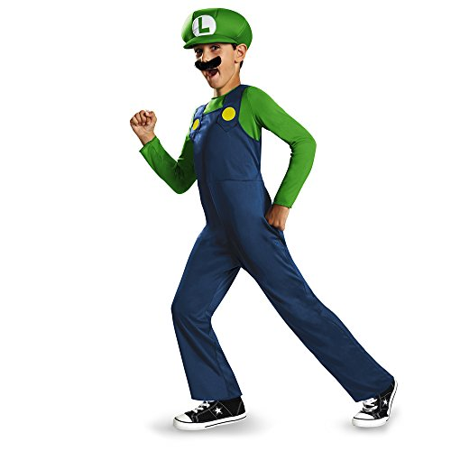 Nintendo Super Mario Brothers Luigi Classic Boys Costume, Small/4-6]()