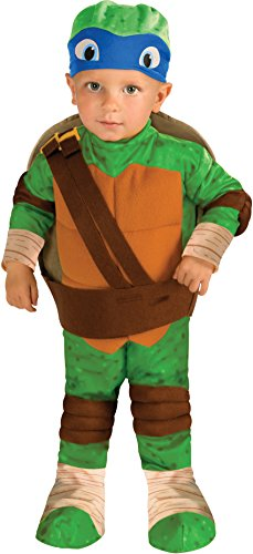 Ninja Turtles Baby Costumes (Rubie's Costume Teenage Mutant Ninja Turtles, Leonardo Romper, Shell and Headpiece, Green, Infant)