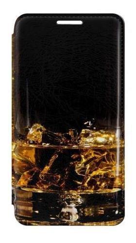 RW2742 Ice Whiskey Whisky Glass Flip Case Cover For Samsung Galaxy S5 (S5 Whiskey Galaxy Case Samsung)