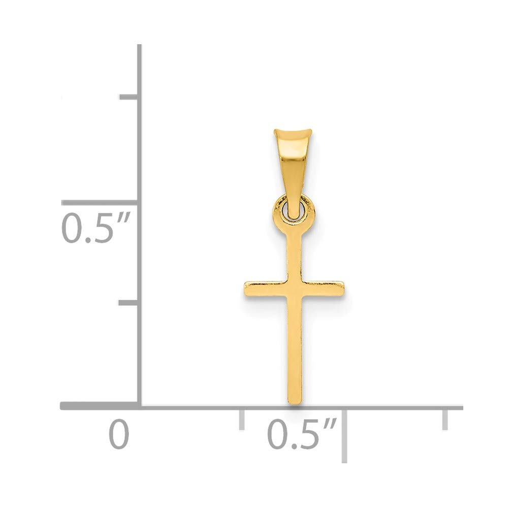 Jewels By Lux 14K Yellow Gold Polished Cross Charm