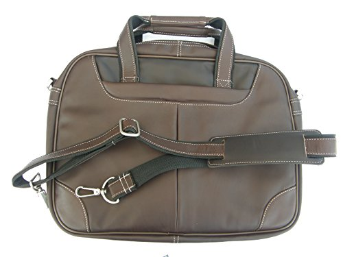 Business-Aktentasche, Aktenmappe, Notebook-/Laptop-Tasche, Leder schwarz oder braun oder beere