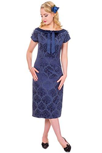 Banned Limitless Robe De Soirée Longue Elégante (Bleu Marine)