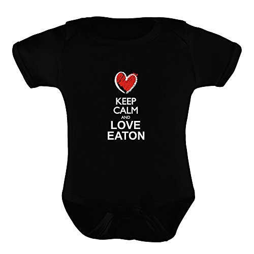 Idakoos Keep Calm and Love Eaton Chalk Style - Last Names - Baby Bodysuit