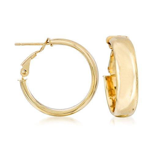 (Ross-Simons Italian 14kt Yellow Gold Hoop Earrings)