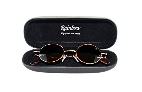 Ronde Style RAINBOW Retro SAFETY Lunettes Lennon Homme Femme Polarisee soleil de R2317 Marron Or np1pIzr0