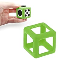 FTXJ Fidget Cube Protective Cover Case Stress Relief Focus Toy Accessories (Green)
