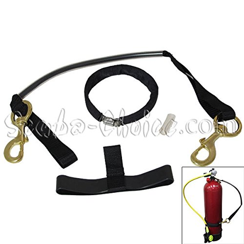 """Scuba Choice Scuba Diving 8"""" Cylinder Tank Carrier with Clamp and Brass Clips"""