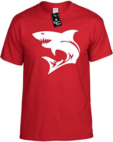 Kids Funny T-Shirt Size L (SHARK (fishing)) Youth Tee Shirt
