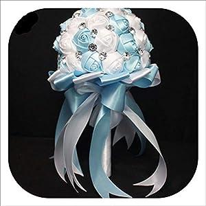 Artificial Flower Crystal Wedding Bouquet Fashion Rose Bruidsboeket Bride Bouquet Flower RamoNovia Bridal Wedding Bouquet,5 1