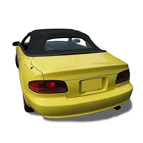 (Compatible With Toyota Celica Convertible Soft Top & Plastic window 1995-2001 Black Pinpoint Vinyl)