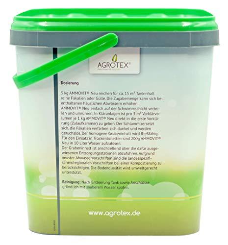 41igAYofRgL Agrotex Camping-Toiletten Sanitärzusatz Geruch Fäkalien Zusatz Ammovit Neu 5 kg
