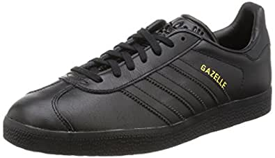 adidas Originals Gazelle, Zapatillas Unisex Adulto, Negro (Core Black/Core Black/Gold Metallic), 36 EU
