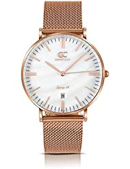 Gelfand & Co. Womens Minimalist Watch Rose Gold Mesh Band Parson 36mm Rose Gold with Pearl Dial