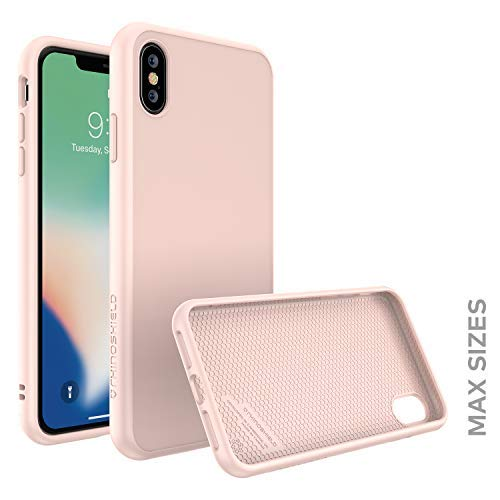 Finish Blush (RhinoShield Case for iPhone Xs Max [SolidSuit] by Shock Absorbent Slim Design Protective Cover with Premium Matte Finish [3.5M / 11ft Drop Protection] - Blush Pink)